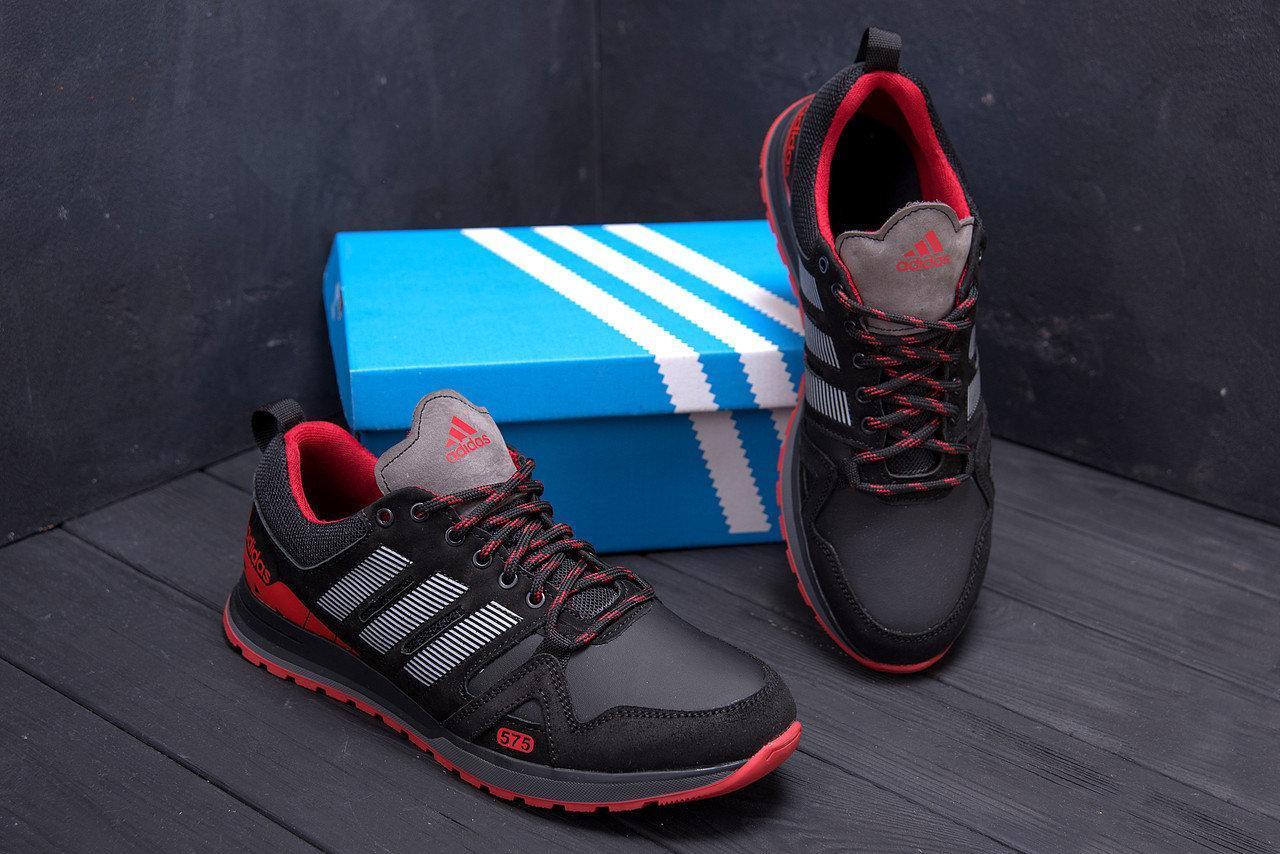 Кроссовки мужские кожаные в стиле Adidas A19 Red Star