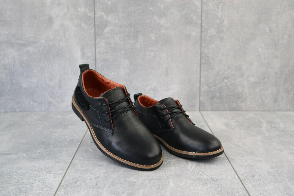 Туфли подростковые  из натуральной кожи Yuves М6 (Clarks)  черные