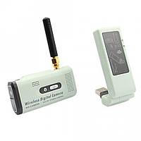 Цифровой беспроводный комплект видеонаблюдения мини камера с USB приёмником для ноутбука до 250м (мод. WS-CAM) С дополнительным аккумулятором 4800mAh (+30-35 часов автономной работы)