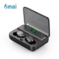 Беспроводные наушники с цифровым зарядным павербанком 6mai TWS F9s Bluetooth 5.0 Черные