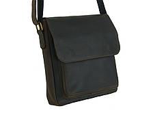 Мужская вместительная сумка GS кожаная коричневая