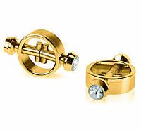 Зажимы-стимуляторы на соски Fetish Fantasy Gold - Magnetic nipple clamps