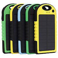Power Bank solar павербанк на солнечных батареях 50000 mAh с мощным фонариком и детектором валют