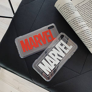 Чехол Case Title Marvel White Transparent / Чехол Марвел Белый для Apple IPhone 7 Plus/8 Plus, фото 2