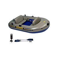 68319  Надувная лодка Intex PONTON EXCURSION 3 SET INTEX 262X157X42CM