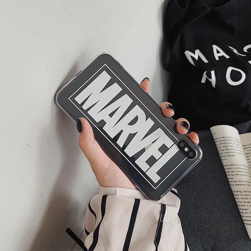 Чехол Case Title Marvel White Transparent / Чехол Марвел Белый для Apple IPhone 6 Plus/6S Plus