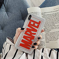 Чехол Case Title Marvel Red Transparent / Чехол Марвел Красный для Apple IPhone Xs Max, фото 1