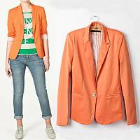 Оранжевый пиджак под джинсы 11430,