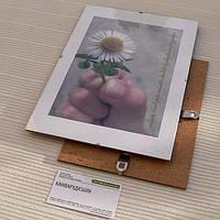 Антирама бюджетна 620х930мм антирамка скляна безбагетная клямерная рама рамка-кліп чи рамка без рамки, фото 1