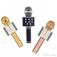 Беспроводной Bluetooth микрофон для караоке WS-858 Качественный блютуз микрофон Бездротовий мікрофон