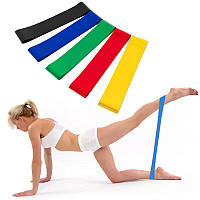 Фитнес резинки Fitness Ленточный эспандер лента жгут (комплект из 5 штук) набор лент эспандеров для фитнеса