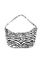 Сумка poolparty-purse-zebra, silver, gold POOLPARTY