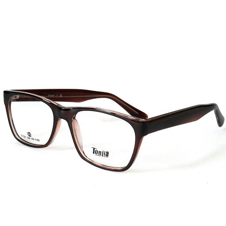 Очки для зрения, унисекс, в пластиковой глянцевой оправе под заказ по любому рецепту, Tonjia