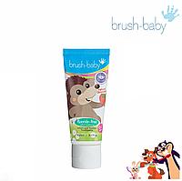 Зубная паста для детей ,без фтора со вкусом клубники Brush-Baby с Xylitol (0-2), 50мл