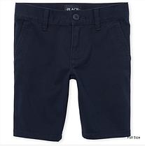Школьные шорты темно-синиена девочку 12-14 лет - Plus - Uniform Chino Shorts The Children's Place (США)