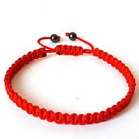 Браслет-оберег Красная нить, правильное плетение, унисекс