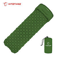 ✅ Hitorhike надувной коврик матрас туристический с подушкой в палатку, фото 1