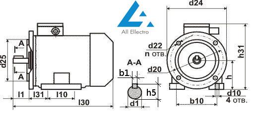 электродвигатель АИР250М8