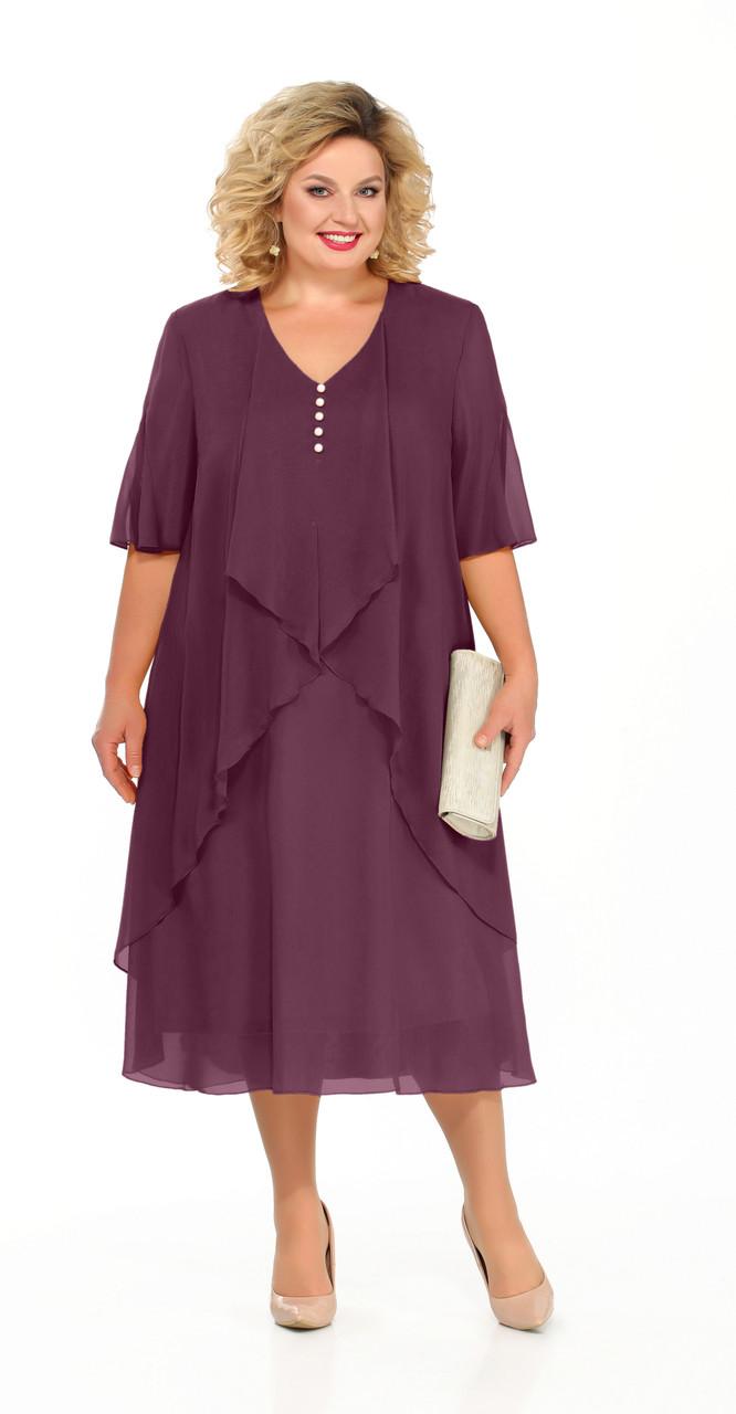 Платье Pretty-915/5 белорусский трикотаж, сливовый, 56