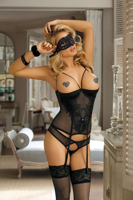 Соблазнительный корсет с открытой грудью Excellent Beauty CHLOE C-404