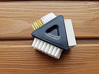 Треугольник Ластик+щетка для чистки замши М-1203
