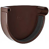 Заглушка желоба правая RainWay 90 мм коричневая 10.090.06.002.RW