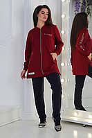 Демисезонный  женский спортивный костюм из трикотажа на молнии Супер батал 56-62