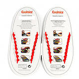 Силиконовые шнурки Coolnice В02 Red (vol-316), фото 2
