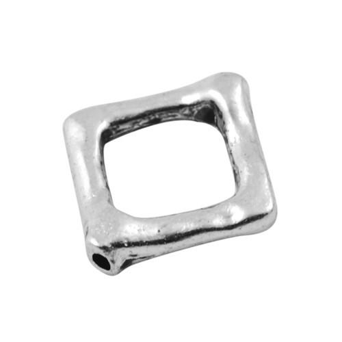 Рамка для бусин квадратная 12 мм античное серебро для рукоделия