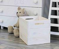 """Ящик для игрушек деревянный с ручками """"Родер"""" 40х30х30"""