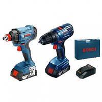 Набір акумуляторного інструменту Bosch GSR 180-Li + GDX 180-Li, фото 1