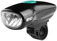 Велосипедный вело фонарик фара 4 Led фонарь Black