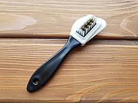 Щетка тройная для чистки замши, велюра, нубука М-1201