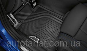Оригинальные резиновые передние коврики BMW 3 (G20) (51472461168)