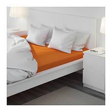 ДВАЛА Простыня натяжная, оранжевый, 160х200, 30289622, IKEA, ИКЕА, DVALA, фото 3
