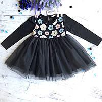 Пышное детское платье на девочку Breeze 123. Размер 104 см, 110 см,  116 с (6лет), 128 см (8лет), фото 1