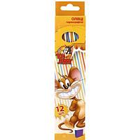 Набор карандашей Tom and Jerry 12 шт с ластиком Cool For School