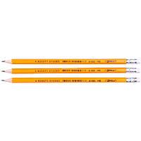 Набор карандашей чернографитных 3 шт НВ с ластиком 4-100 4Office