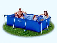 Каркасный прямоугольный бассейн для всей семьи 28271 intex (260х160х65 см) kk hn