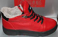 Ботинки красные женские зимние от производителя модель РУ490-2, фото 1