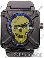 Часы Bell & Ross AIRBORNE SKULL & CROSSBONES PVD BLACK LIMITED EDITION череп (ПОД ЗАКАЗ)
