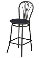 """Высокий барный стул """"Ванесса"""" хокер черный"""