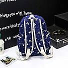 Рюкзак набор для девочки 4 предмета (сумка, клатч, пенал)с зайкой помпоном., фото 3