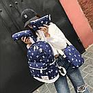 Рюкзак набор для девочки 4 предмета (сумка, клатч, пенал)с зайкой помпоном., фото 6