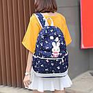 Рюкзак набор для девочки 4 предмета (сумка, клатч, пенал)с зайкой помпоном., фото 8