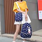 Рюкзак набор для девочки 4 предмета (сумка, клатч, пенал)с зайкой помпоном., фото 9