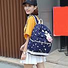Рюкзак набор для девочки 4 предмета (сумка, клатч, пенал)с зайкой помпоном., фото 7