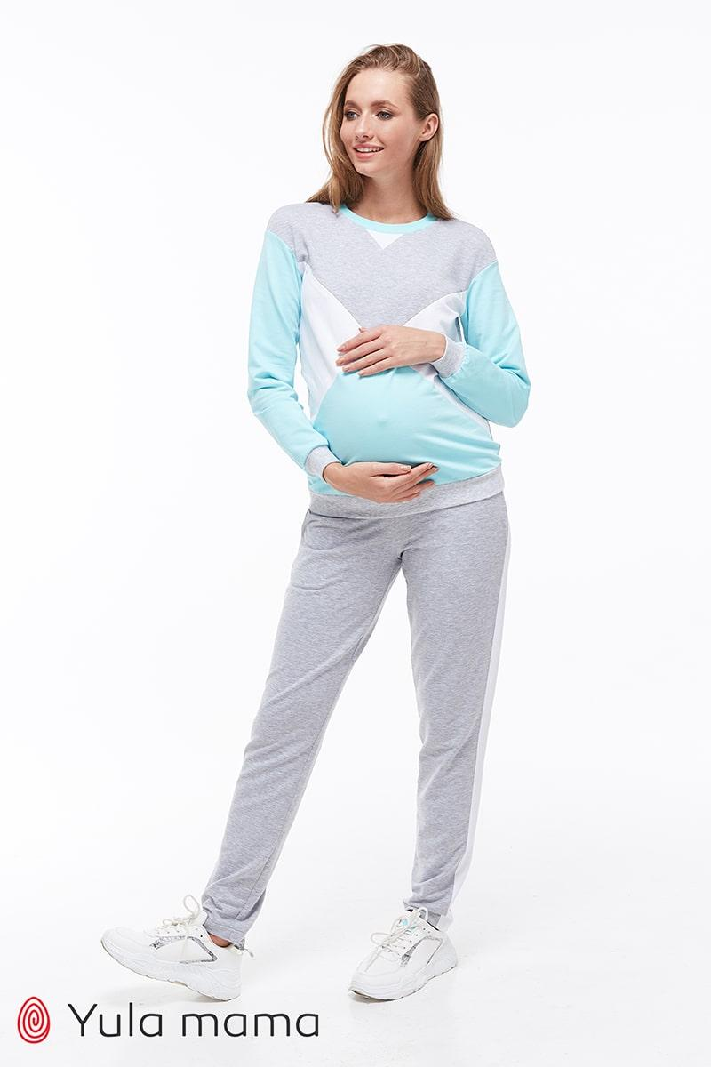 Хлопковый костюм для беременных и кормящих OLBENI ST-39.012