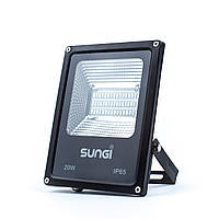 Светодиодный прожектор уличный 20W 6500K Sungi, фото 1