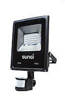 Светодиодный прожектор с датчиком движения 30W 6500K Sungi
